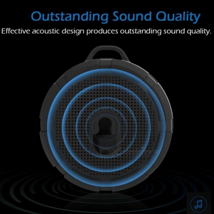 Waterproof Outdoor Bluetooth Speaker Portable Wireless Subwoofer Loudspeaker Shower Bicycle Speakers with Suction Cup