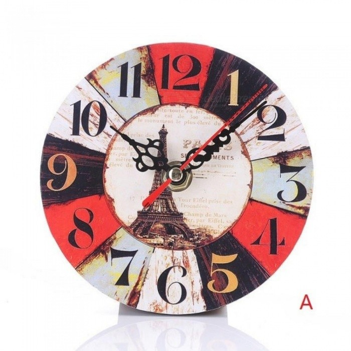 Vintage Non-Ticking Silent Antique Wood Clock Kitchen Office Living Room Diy Watch With Multi Style Optional 1PC