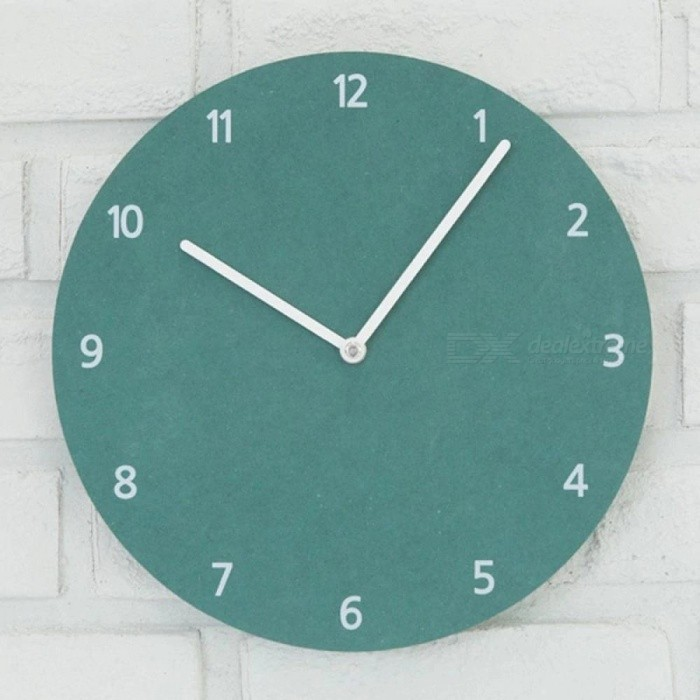 Wall Clocks 10 inch Brief Modern Wall Watch Multiple Colors Silent Watches Home Decoration For Living Room Bedroom