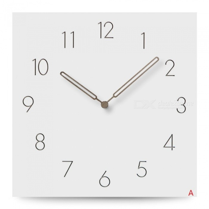 Large Wooden Wall Clock Simple Modern Design Europe Silent Clocks Square MDF Wood Hanging Wall Watch Home Wall Decor 12 Inch