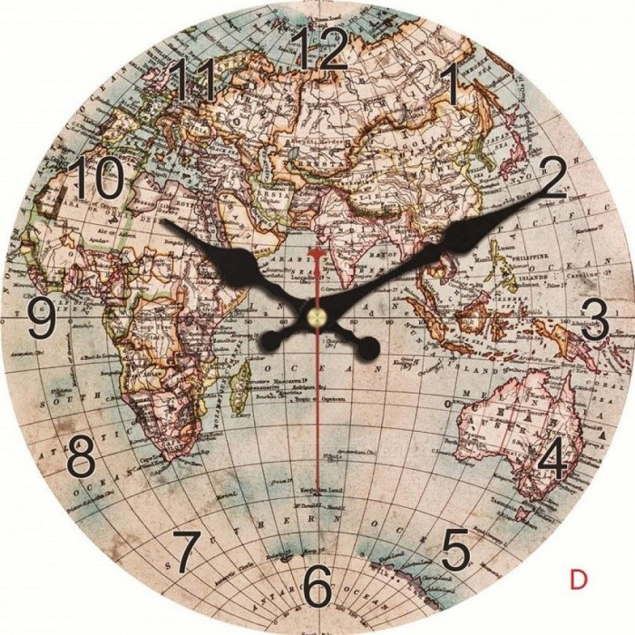 Fashion vintage world map wall clock silent living study kitchen fashion vintage world map wall clock silent living study kitchen bathroom home wall decoration art watches gumiabroncs Gallery