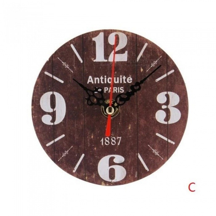 Vintage Style Silent Antique Wood digital  Clock Non-Ticking Silent Antique Wood digital Wall Clock for Home Office