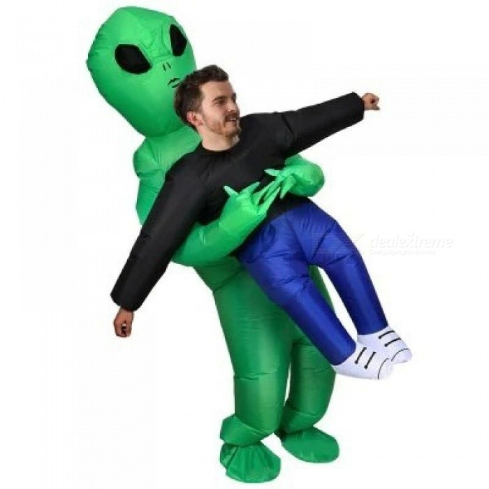inflatable monster costume scary green alien dinosaur mascot cosplay costume for adult animal halloween purim party
