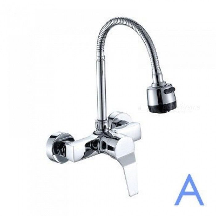 Wall Mounted Kitchen Faucet Wall Kitchen Mixers Kitchen Sink Tap 360 ...