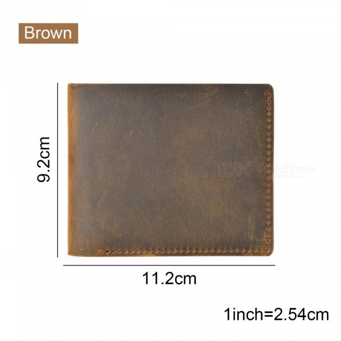 Leather Wallets Bifold Purse Vintage Crazy Horse Leather Clutch Men wallets Retro Coin Pocket Men Wallets