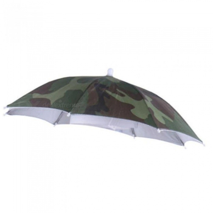 93c0a347a0c Outdoor Foldable Sun Umbrella Hat Golf Fishing Camping Headwear Cap Head Hat  Camouflage With Army Green