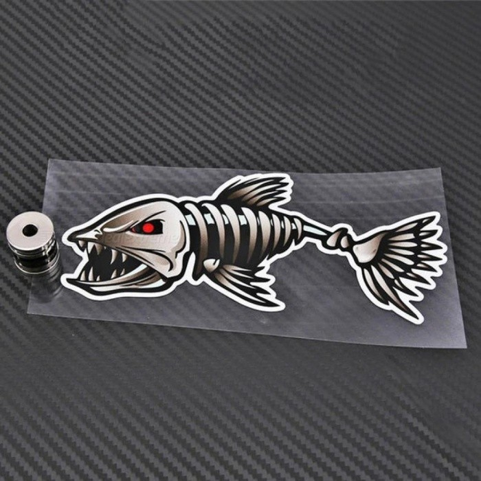 2 X Aliauto 3D Car Accessories Car-styling Skeleton Shark Car Sticker and Decal Go Fish for Motorcycle Volkswagen Golf Bmw Ford