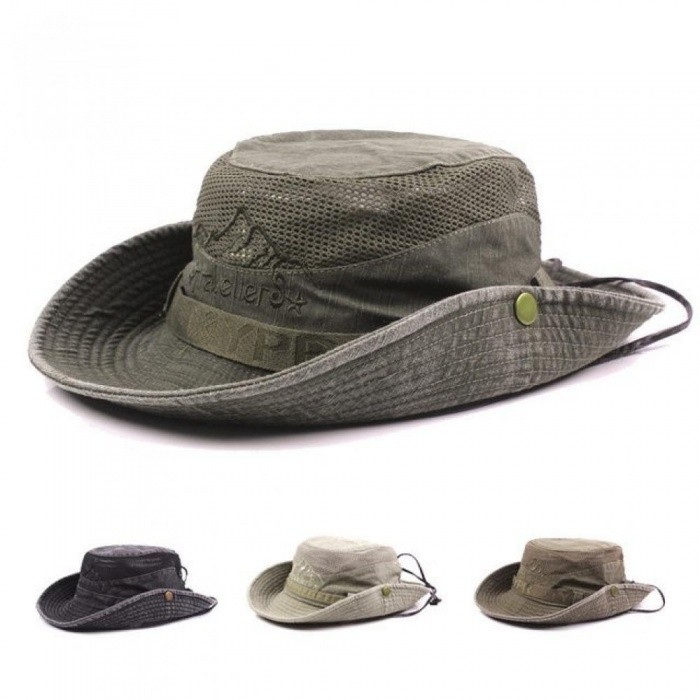 5683e39a542 Men s Bob Summer Bucket Hats Outdoor Fishing Wide Brim Hat UV Protection  Cap Men Hiking Sombrero Gorro Sun Hat for Men khaki - Free shipping -  DealExtreme