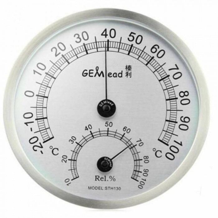 High Temperature Measuring Stainless Steel Indoor Outdoor Thermometer Hygrometer Sauna Bath Laboratory Weather Station