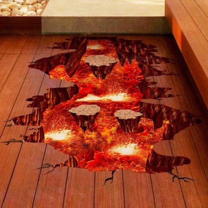 Wall Sticker 3D Magma Wall Sticker Removable Mural Decals Vinyl Art Living Room  Cute Wall Art Decoration