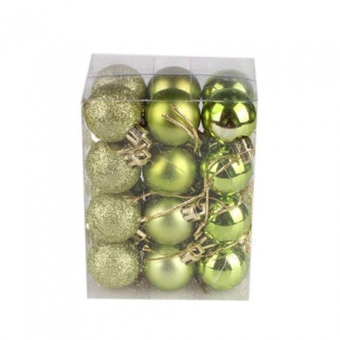 24Pcs/Lot 30mm Christmas Tree Decor Ball Bauble Xmas Party Hanging Ball Ornament Decorations for Home Christmas Decorations Gift