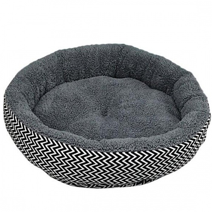 Cushion Warm Couch Bed For Pet Puppy Dog Cat In Winter Canvas + PP Cotton Material Gray White Color Optional