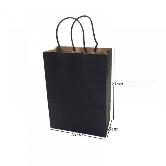ac6cf413d9 Gift Bags With Handles Multi-function Black Paper Bags 6 Size Recyclable  Environmental Protection Bag