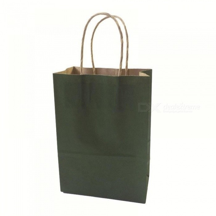 Fashionable Kraft Paper Gift  Bag With Handle/Shopping Bags/Christmas Brown Packing Bag 21X15X8CM 40PCS