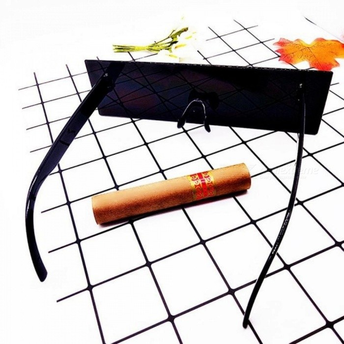 Lucky Lion Funny Sunglasses Black Square Glasses Toy Cosplay Tools Quadratic Element Toys Gift For Boys Girls Adult