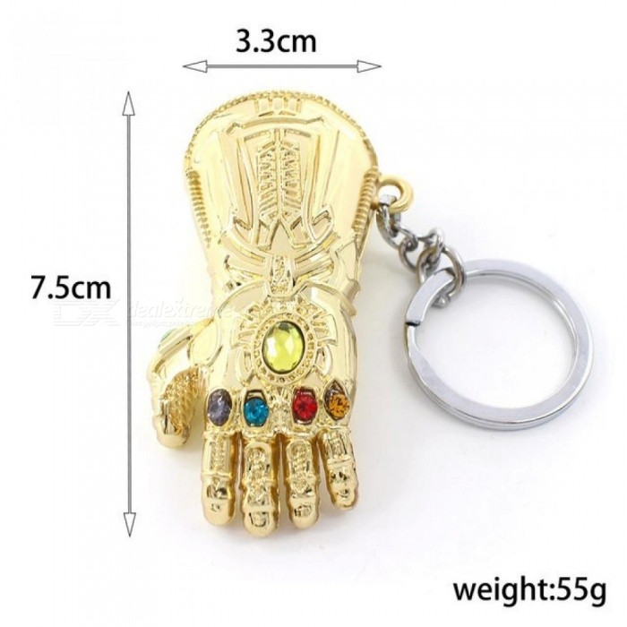 Marvel Avengers 3 Thanos Infinity Glove Gauntlet Keychain Anime Keyring For  Gift Chaveiro Keychain Jewelry Porte 26de0aa5b45