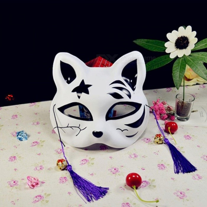 Japanese Cat Mask Full Face Sexy Mask Cosplay Party Decorations Adult Animation Fox Dark Part Red Black Masquerade