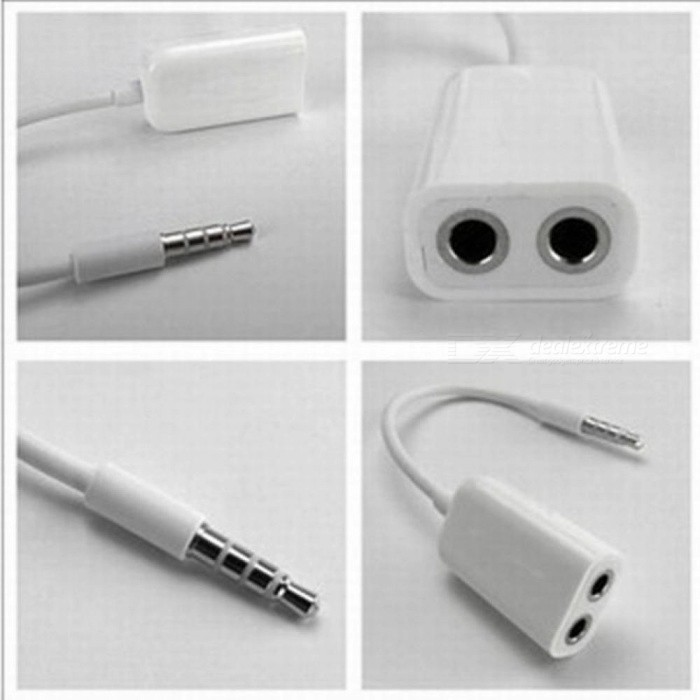 3.5MM HeadSet 1 To 2 Mini Stereo Audio Speaker Headphone Splitter Adapter Male to Female AUX Cable for iPhone 4 5 6 7 MP3 4 iPad