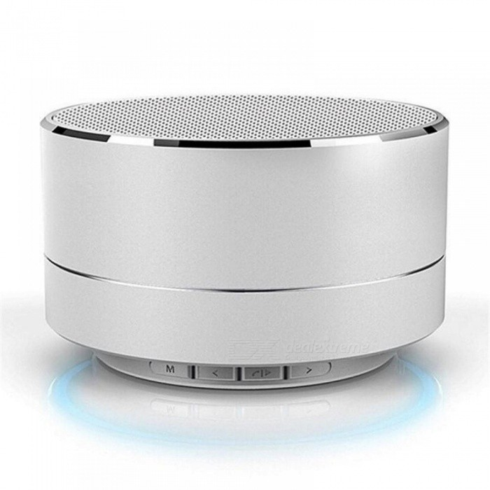 Wireless Mini Super Bass Bluetooth Music Speaker For Samsung iPhone iPad Tablet Silver Black Color Optional
