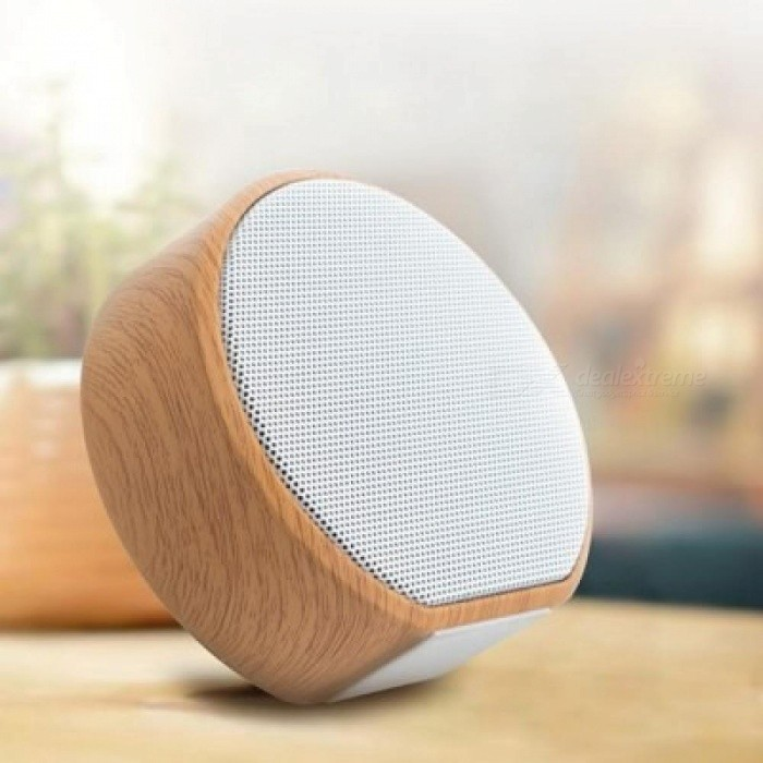 Wireless Bluetooth Speaker Portable Wood Look mini Stereo Speaker for Smartphones Notebook IPAD Speakers with mic TF Aux Port