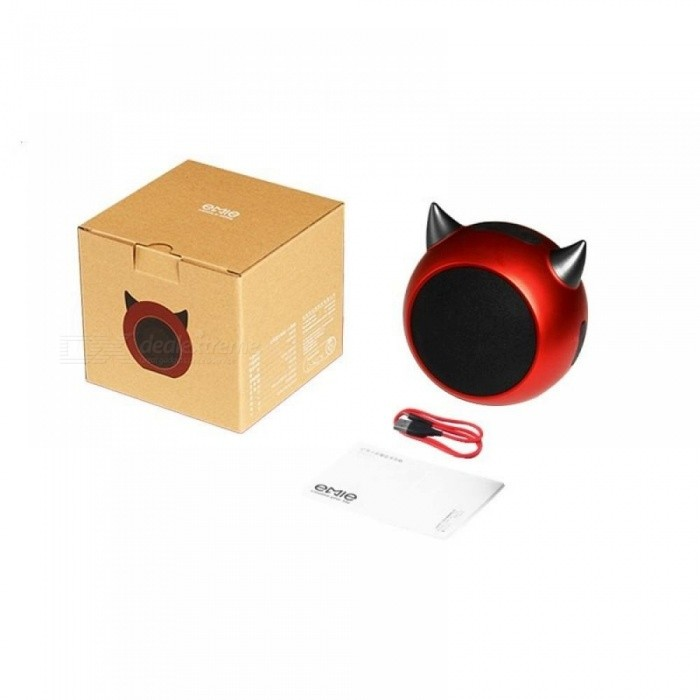 Rock Portable Bluetooth Mini Speaker With LED Horns Enhanced Bass Compatible With iPhones iPads Laptops Computer