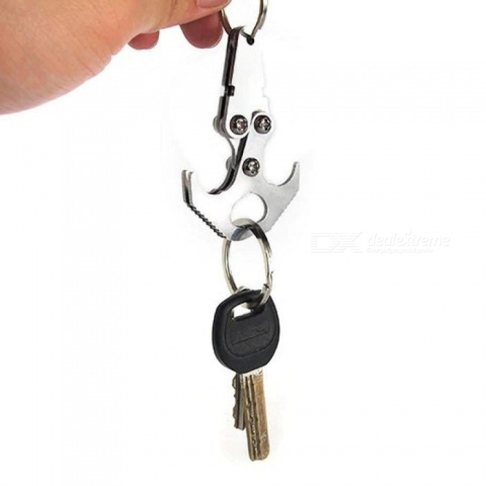 Gear Tactical Pocket Key Chain Multi Tools Carabiners Gravity Hook Keychains Outdoor Camping Survival Travel Kits