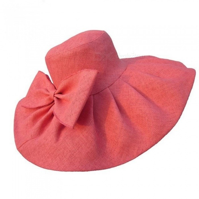 6bd79cab4ba Huge Linen Sun Hat Women Kentucky Derby Wide Brim Sun Hat Wedding Church  Beach Hats for