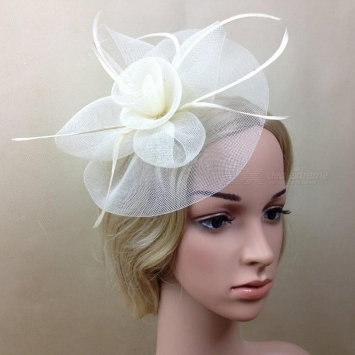 Lady Elegant Fascinator Hat Clips Hair Pins Hair Accessories Wedding Church With Multi Colors For Option