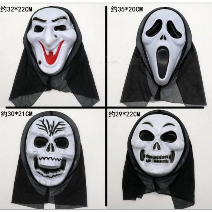 Halloween Scream Horror Decoration Mask Props Party Skull Devil Vampire Corpse Centipede Witch Blooding Face Masks