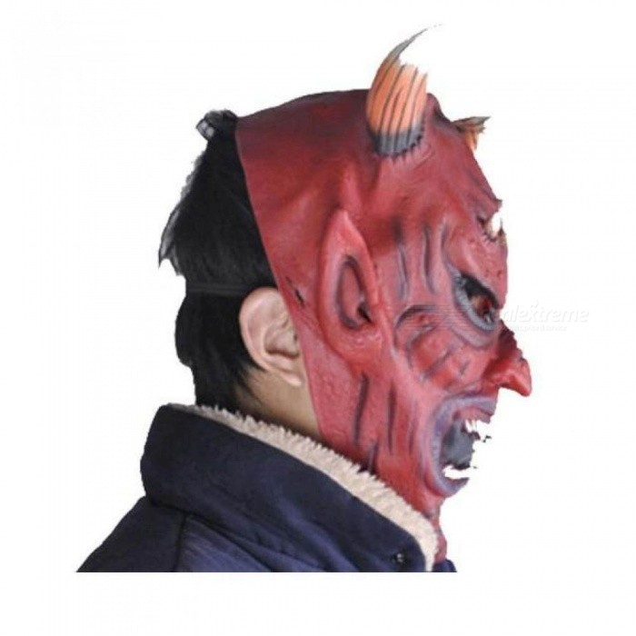 Horror Screaming Bloody Face Off Horror Mask Halloween Costume Mask Halloween Decorations Blood Demon Mask