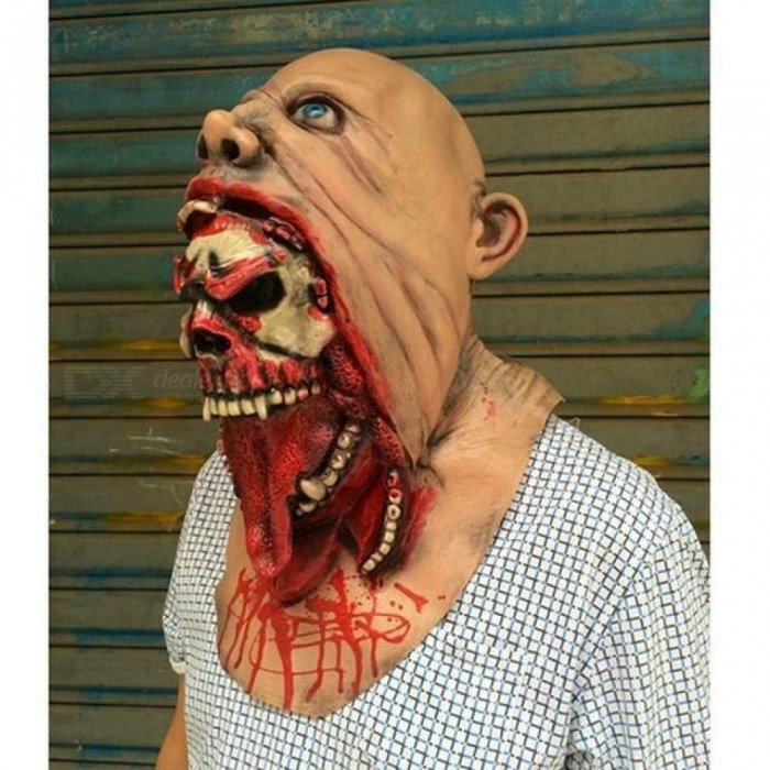 Halloween Masquerade Horror Vampire Adult Infected Zombie Mask Scary Costume party Props Costume Screaming Corpse Head Mask