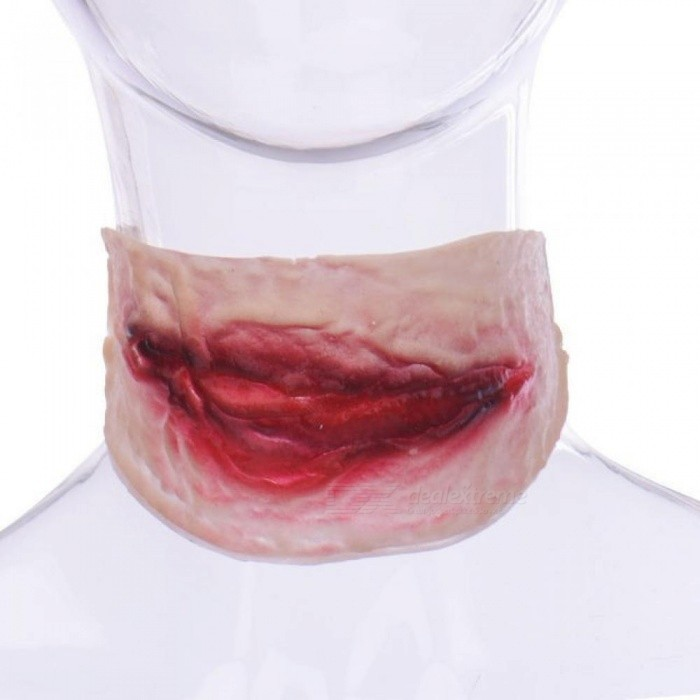 Scary Vampire Bite Horrible Halloween Festival Masks Neck Bite Wound Horror Mask Party Halloween Costume Party Cosplay Supplies