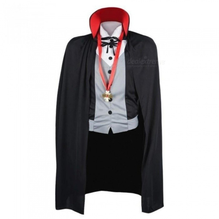 a0fb1b67 Men Vampire Costume Halloween Costumes Adult Male Fantasy Cosplay Fancy  Dress Gothic Cloak Cape Stand Collar