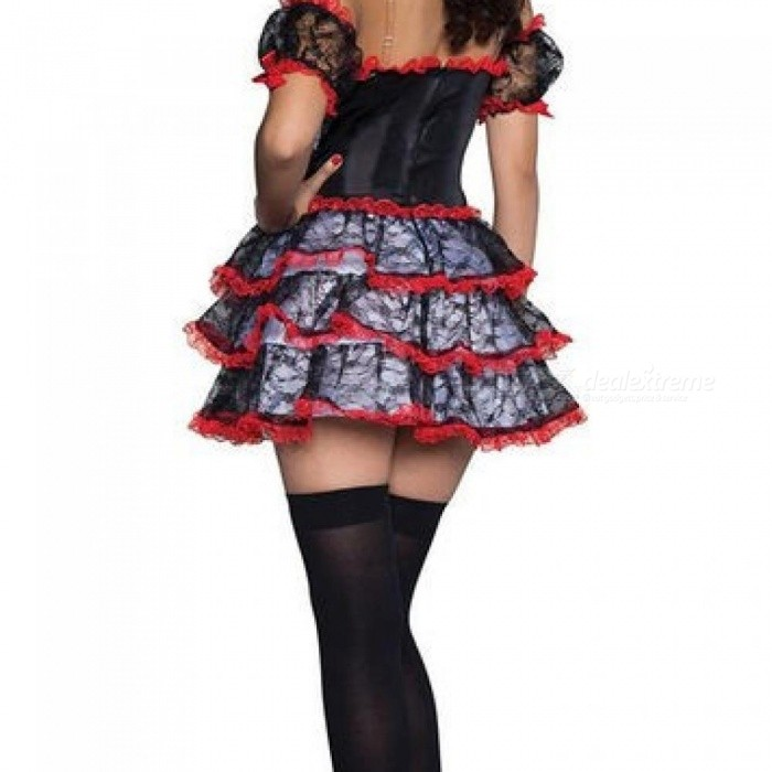 Women Bride Vampire Skull Costume Adult Halloween Carnival Party Mexican Day Of The Dead Dress Sexy Cosplay Costume