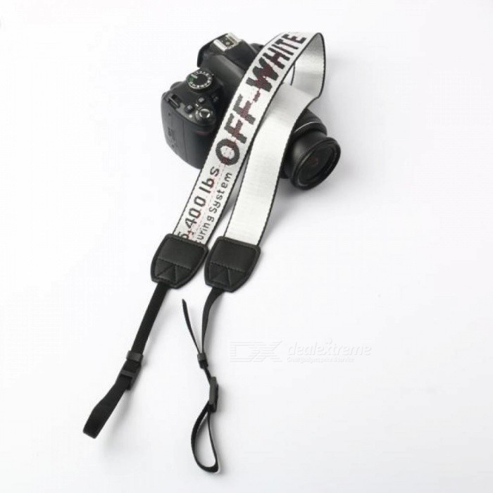 Off White Neoprene Neck Strap for Canon Nikon Pentax Sony Fuji Olympus Camera Pink/Yellow/Silver/Black/Red/Green/Rose
