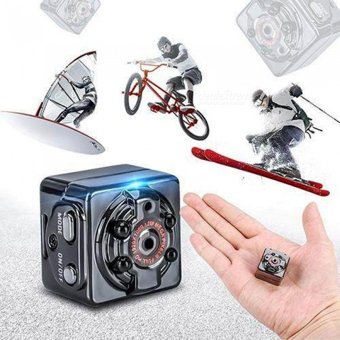 Full HD 1080P Mini DV Sports Action Camera Camcorder IR Night Vision Car DVR 360 Degree Rotating Black