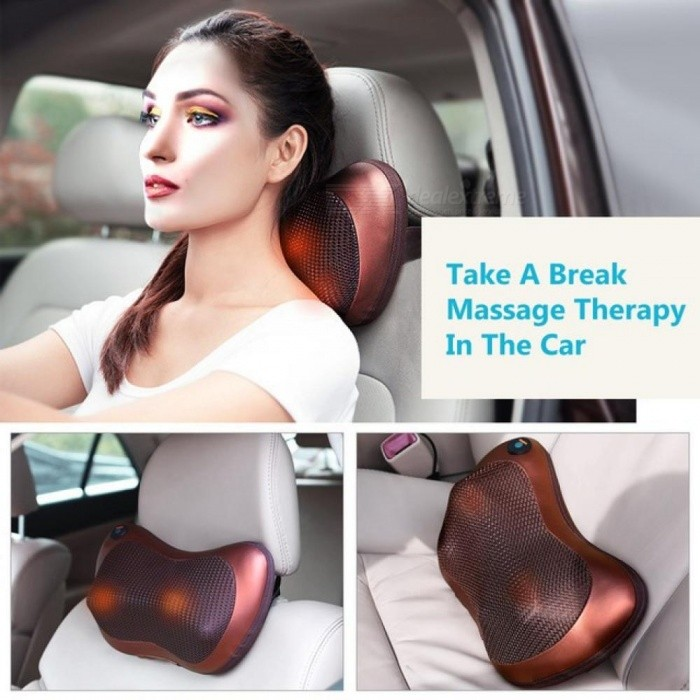 Health Care Car Home Electric Kneading Massage Pillow Cervical Shoulder Back Cervical Lumbar Neck Massager Body Relax Device