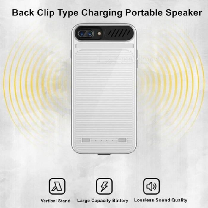 For iPhone 6 Plus Battery Case Phone Case Small Speaker 3 in 1 Charger Cover Power Bank For iPhone 6 Plus 6s 7 Plus Battery Case
