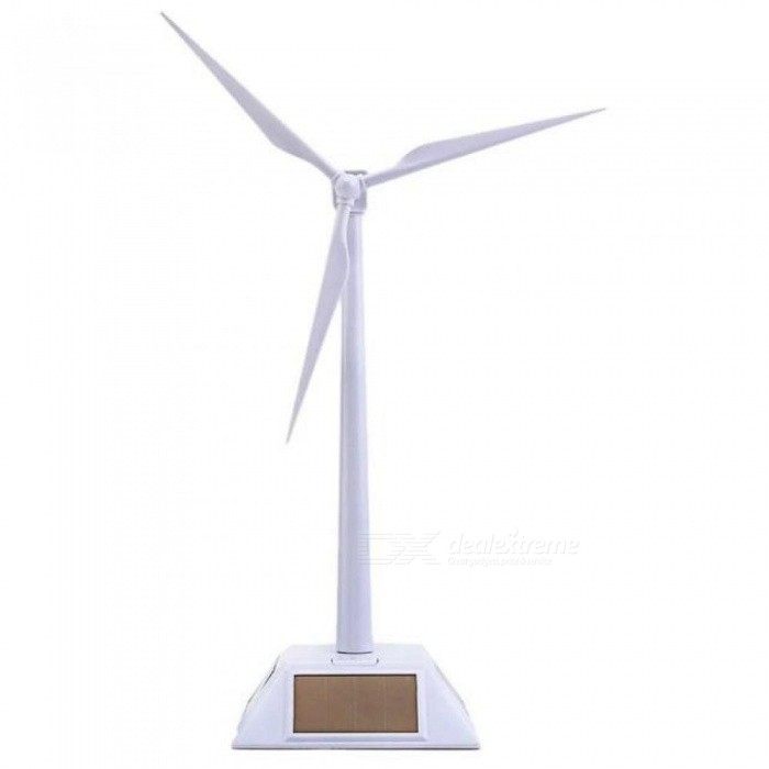2 in 1 Solar Wind Turbine Generator Model and Exhibition Stand Windmill Educational Assembly Kit Desktop Decoration