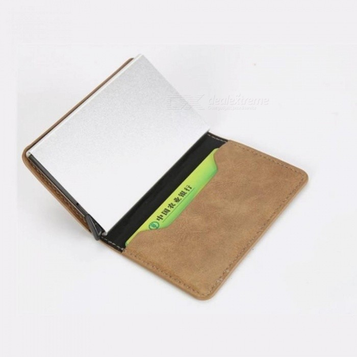 Women Men Credit Card Case Business Card Holder For Plastic Cards Purse Automatic Credit Cards Women Wallet