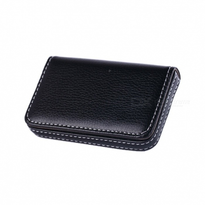 Pocket PU Leather Business ID Credit Card Holder Case Wallet Office School Supplies Creative New Year Gift 96*65*15mm