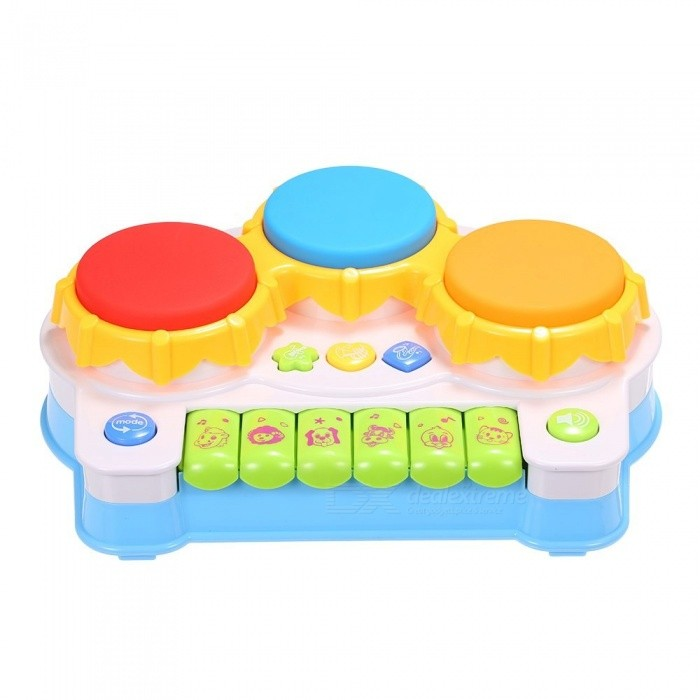 Musical Toys Music Piano Keyboard Drums Electronic Learning Toy Fun Playing  For Toddler Baby Kids Educational Game Blue Keyboard