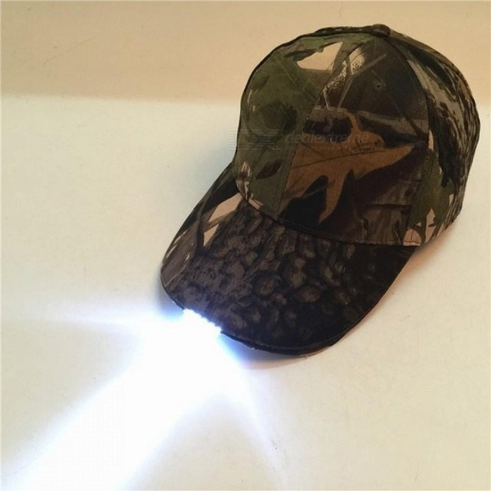 5 LED Super Bright Glow In Dark Outdoor Fishing Camping Hunting Headlight Baseball Caps Luminous Holiday Hat for Unisex
