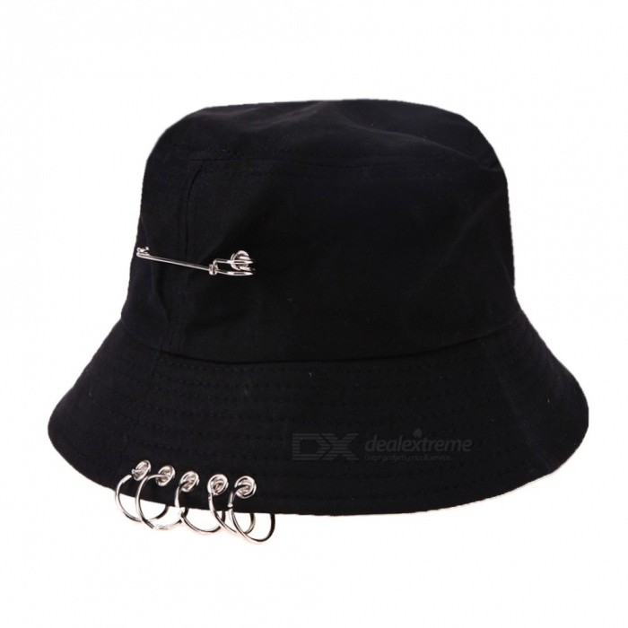 Cool Unisex Iron Ring Folding Fisherman Hats Bucket Hat Hunting Fishing  Outdoor Cap Hat Street Hip 7ac52cf84d5