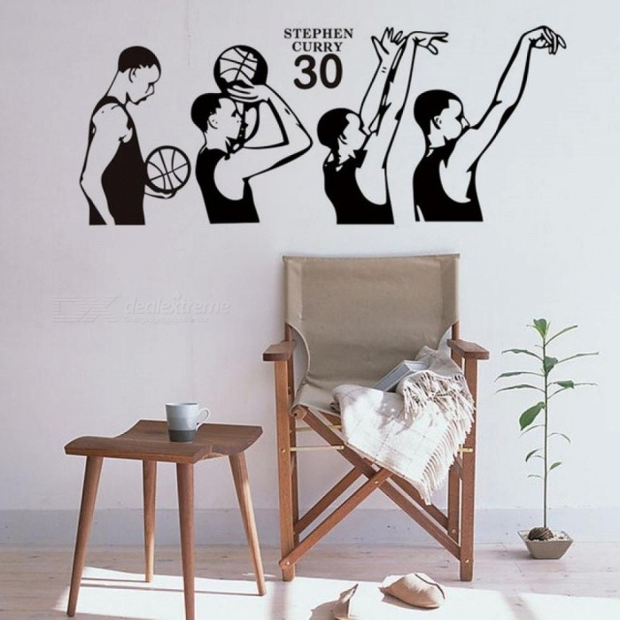 Basketball Superstar Stephen Curry Shooting Action Vinyl Wall Decal