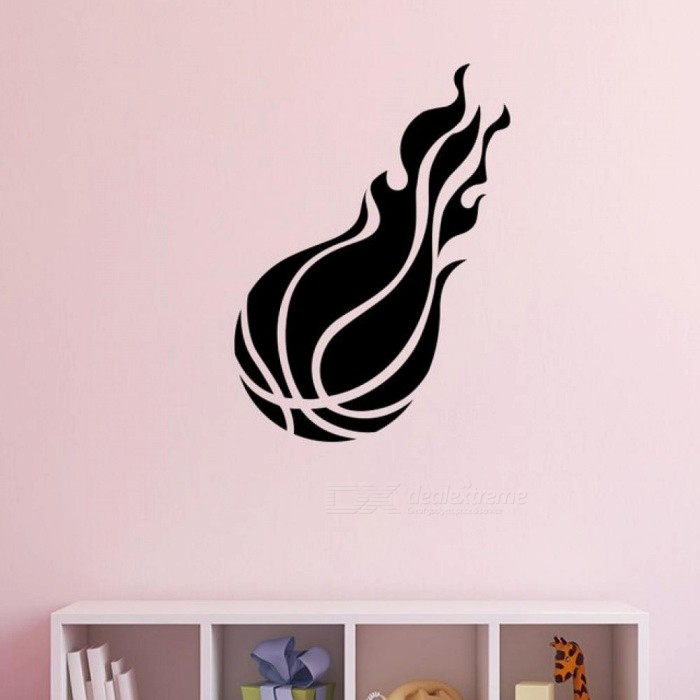 Muyu Chunhua Basketball Inspirational Wall Sticker For Kids Room Decor Bedroom Accessories Wall Decal Wall Stickers Home Decor L 30cm X 41cmblack