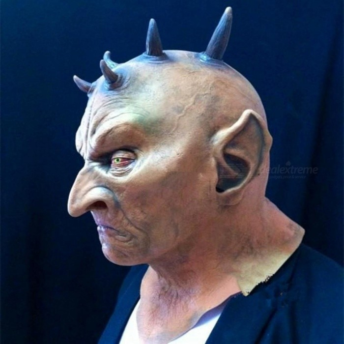 Eco-friendly Latex Six Horned Monster Mask Halloween Carnival Masquerade Cosplay Costumes Props Horror Devil Masks