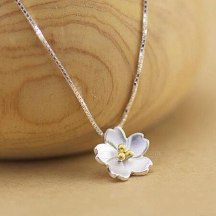 Delicate 925 Silver Daisy Flower Shape Necklaces For Women Tiny Flower Jewelry Party Birthday Gift Silver
