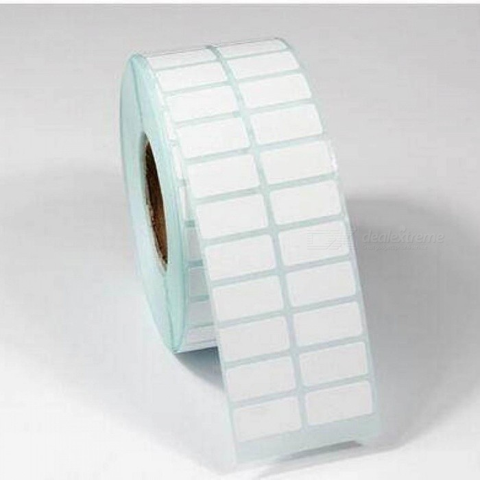 20*10mm 3000PCS Waterproof Scratch-Resistant Oil Thermal Paper Roller/Many  Blank Stickers/Thermal Paper Sticker Barcode 20*10mm