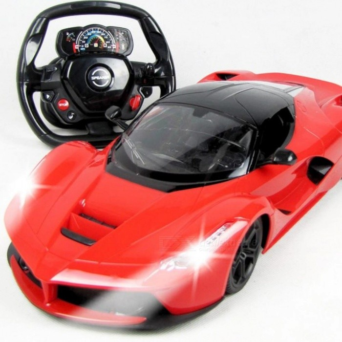 1:14 Electric RC Cars Steering wheel Remote Control Radio Control Cars Toys For Boys Children Kids Gifts Flash Lights